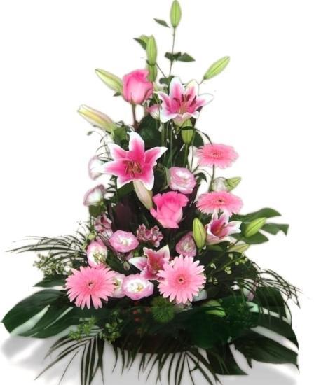 Centro de Flores a domicilio rosado