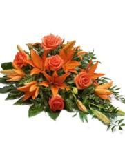 Centro alargado anaranjado