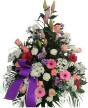 Centro funerario variado flores
