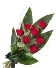 Ramo Funerario siete rosas rojas